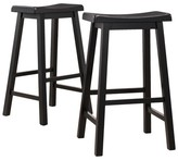 Homelegance Scoop Barstool Hardwood/Black