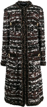 Dolce & Gabbana Mid-Length Tweed Coat