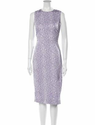 Diane von Furstenberg Printed Midi Length Dress w/ Tags Purple