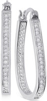 Townsend Victoria Rose-Cut Diamond U-Hoop Earrings (1/4 ct. t.w.) in 18k Gold over Sterling Silver or Sterling Silver