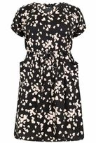 Yours Clothing YoursClothing Womens Heart Print Dress Pockets & Elasticated Waistband Plus Size