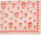 Alexander McQueen Pink and Orange Skull Scarf