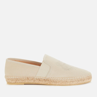 Kenzo Women's Tiger Head Canvas Espadrilles - Off White