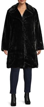 AVEC LES FILLES Plus Faux Fur Coat