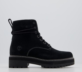 Timberland Lux Stack Boots Black Contrast Stitch