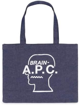 A.P.C. X Brain Dead Denim Tote