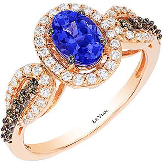 LeVian Le Vian 14K Rose Gold 1.09 Ct. Tw. Diamond & Tanzanite Ring