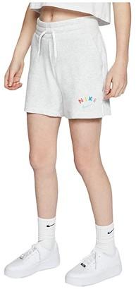 Nike Kids NSW Fleece Shorts (Little Kids/Big Kids) (Birch Heather) Girl's Shorts