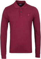 Cp Company Cranberry Long Sleeve Regular Fit Polo Shirt