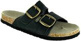 Black Ciabatta Suede Sandal
