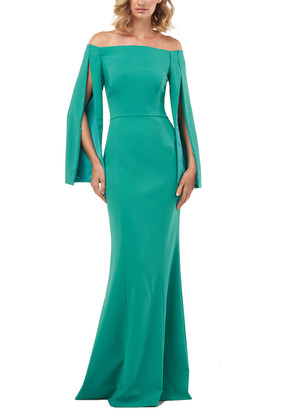 Kay Unger Miriam Stretch Crepe Gown