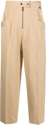 Twin-Set High-Waist Straight Trousers