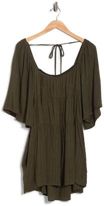 Luna Chix Lurex Stripe Babydoll Dress