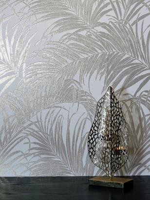 Arthouse Kiss Foil Palm Cream Gold Wallpaper