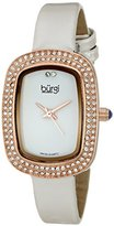 Burgi Women's BUR111RGW Analog Display Swiss Quartz White Watch