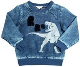 Little Marc Jacobs T-Rex Printed Bleached Cotton Sweatshirt