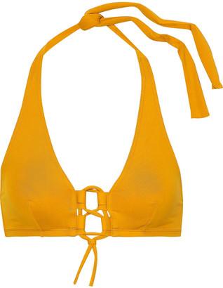 Eres Carine Lace-up Halterneck Bikini Top