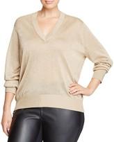 MICHAEL Michael Kors Metallic V-Neck Sweater