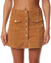 rhythm Pennylane Womens Skirt Brown