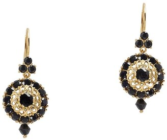 Dolce & Gabbana 18kt Yellow Gold Diamond Sapphire Earrings