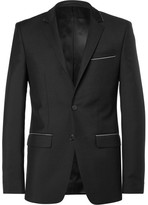 Givenchy Black Slim-Fit Chain-Trimmed Wool and Mohair-Blend Suit Jacket