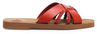 Chloé Woody Flat Leather Sandals