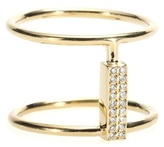 Ileana Makri 18kt Yellow Gold Ring With White Diamonds