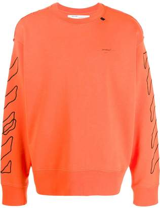 Off-White arrows embroidered sweatshirt