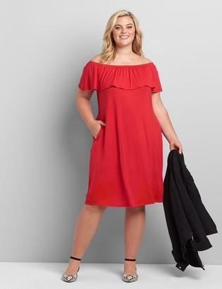 Lane Bryant Multi-Way Off-The-Shoulder Swing Dress