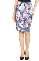 blue floral 'Della' contoured skirt