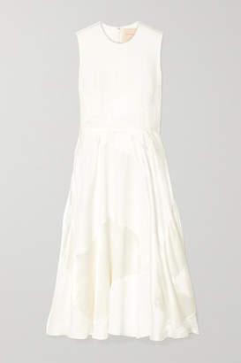 Roksanda Keanu Silk-crepe And Faille Midi Dress - Ivory