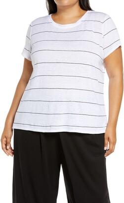 Eileen Fisher Organic Linen Crewneck T-Shirt