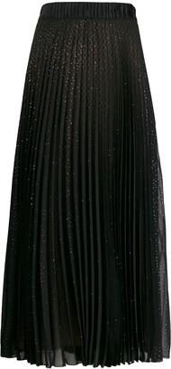 Marco De Vincenzo Rhinestone-Embellished Pleated Skirt