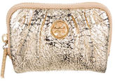 Tory Burch Metallic Logo-Embellished Coin Pouch