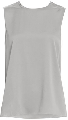 Theory Straight Silk Shell Top
