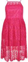 River Island Womens RI Plus pink lace midi dress