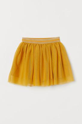 H&M Glittery Tulle Skirt - Yellow