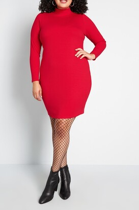 ModCloth Most Favored Mock Neck Dress
