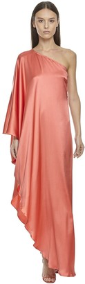 Asymmetrical Silk Blend Maxi Dress