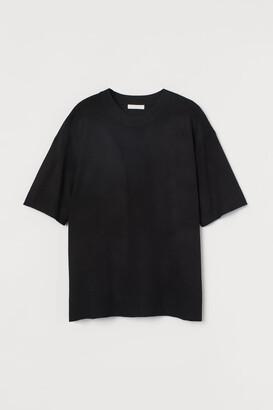 H&M Fine-knit T-shirt