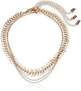 Steve Madden SMN463560GD 3 Piece Chain Gold Choker Necklace