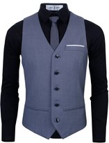 Tom's Ware Mens Premium Slim Fit Fully Lined Twill Vest TWMV03-XL