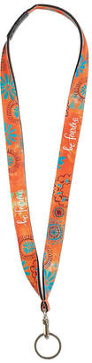 Brownlow Women's Key Chains MULTI-COLOR - Orange Floral 'Be Fearless' Lanyard