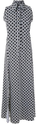 AMIR SLAMA Sleeveless Diamond Shirt Dress