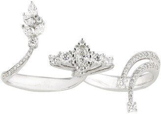YEPREM White Gold and Diamond Mystical Garden Open Ring