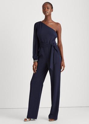 Ralph Lauren Jersey One-Shoulder Jumpsuit