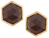 Trina Turk Hexagon Stone Stud Earrings