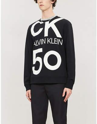 CK Calvin Klein Logo-print cotton-jersey sweatshirt