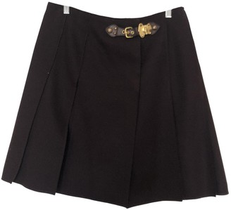 Miu Miu Burgundy Wool Skirt for Women