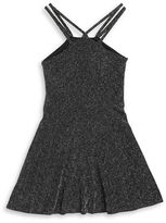 Sally Miller Girls 7-16 Sparkle Halter Fit-and-Flare Dress